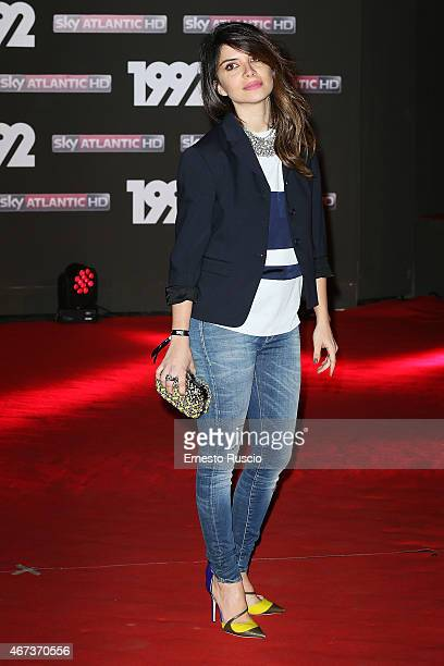 Claudia Potenza attends the '1992' Tv Movie premiere at The Space Moderno on March 19 2015 in Rome Italy