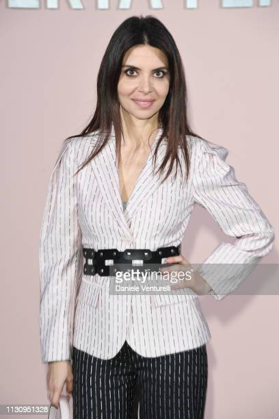Claudia Potenza attends the Alberta Ferretti show at Milan Fashion Week Autumn/Winter 2019/20 on February 20 2019 in Milan Italy