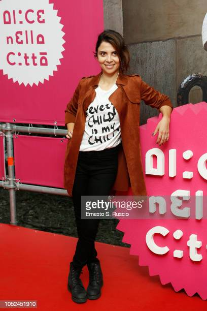 Claudia Potenza attends the Every Child Is My Child photocall as part of Alice Nella Citta during the 13th Rome Film Fest at Auditorium Parco Della...