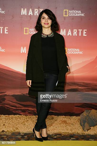 Claudia Potenza attends the premiere of 'Marte' at The Space Moderno on November 8 2016 in Rome Italy