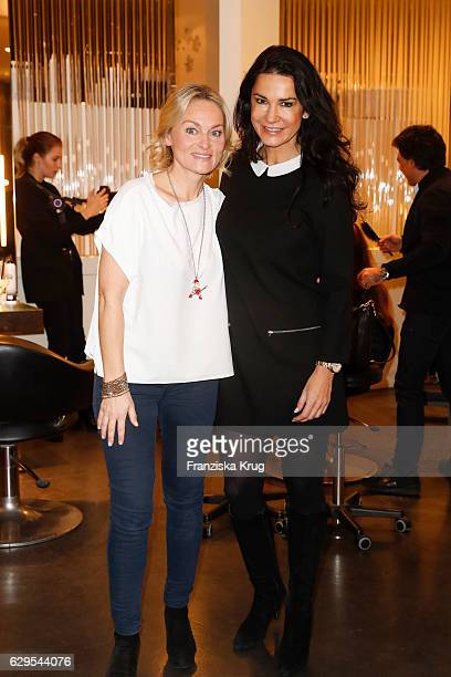Claudia Rahimkhan and Mariella Ahrens attend the Shan's Beauty Dinner on December 13 2016 in Berlin Germany
