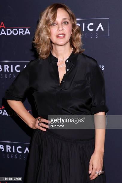 Claudia Ramirez poses for photos during a red carpet of premiere 'La Usurpadora' Tv Screening soap opera at Club de Banqueros on August 29 2019 in...