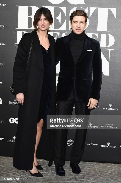 Claudia Ranieri and Alessandro Roja attend GQ Best Dressed Man 2018 during Milan Men's Fashion Week Fall/Winter 2018/19 on January 12 2018 in Milan...