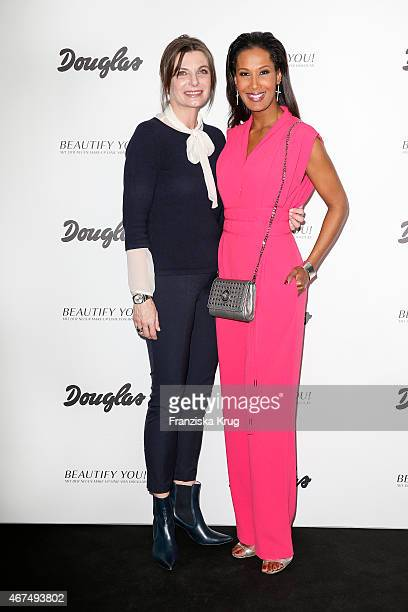 Claudia Reinery and Marie Amière attend the launch of the Douglas MakeUp line Beautify You on March 25 2015 in Hamburg Germany