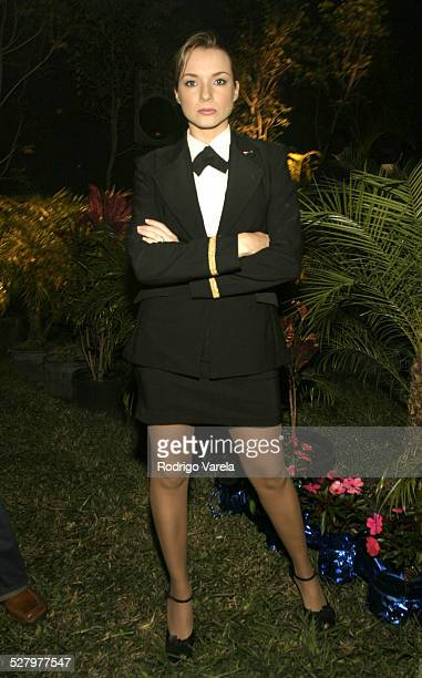 Claudia Reyes during Angel Rebelde Telenovela/Soap Opera Photocall at Fono Video Studios in Miami Florida United States