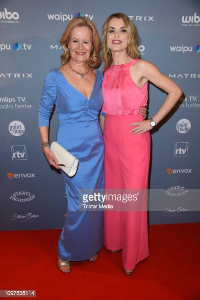 Claudia Rieschel and Andrea Luedke attend the Movie Meets Media party during 69th Berlinale International Film Festival at Hotel Adlon on February 10...