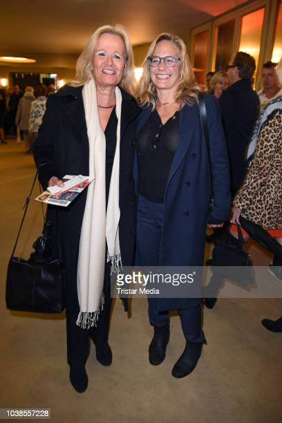 Claudia Rieschel and Sonsee Neu attend the 'Willkommen bei den Hartmanns' theater premiere on September 23 2018 in Berlin Germany