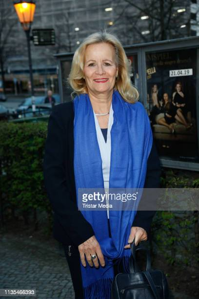 "Claudia Rieschel during the premiere of ""Charly's Tante"" at Schlosspark Theater on April 6, 2019 in Berlin, Germany."
