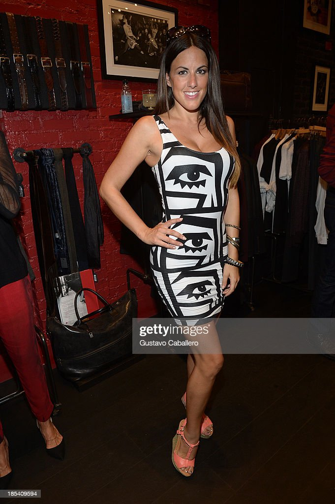 Claudia Romani attends the Rock in Fashion Book Launch at John Varvatos South Beach Miami on October 19, 2013 in Miami, Florida.