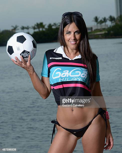 Claudia Romani is sighted on April 30 2014 in Miami Florida