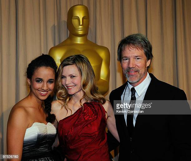 Claudia Rose Michelle Pfeiffer and producer David E Kelley arrive backstage at the 82nd Annual Academy Awards held at Kodak Theatre on March 7 2010...