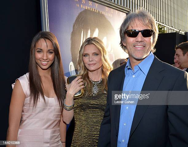 Claudia Rose Pfeiffer Michelle Pfeiffer and David E Kelley arrive at the Los Angeles premiere of Dark Shadows held at Grauman's Chinese Theatre on...