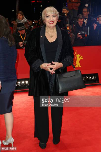 Claudia Roth arrives for the closing ceremony of the 67th Berlinale International Film Festival Berlin at Berlinale Palace on February 18 2017 in...