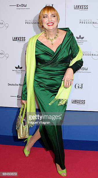 Claudia Roth attends the annual press ball at the Intercontinental Hotel in Berlin on November 27 2009 in Berlin Germany