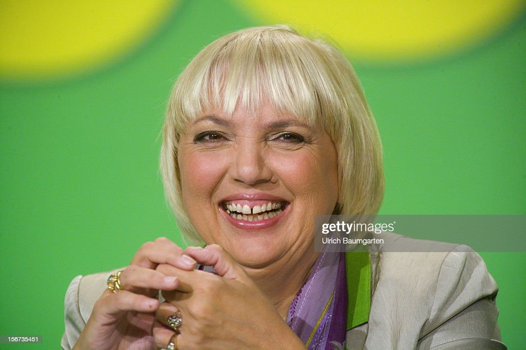 Claudia Roth, chairwoman of German Greens Party (Buendnis 90/Die Gruenen) during the Greens Party federal convention at Hannover Congress Centrum on November 17, 2012 in Hanover, Germany. Germany faces federal elections in 2013 and the Greens Party, which is Germany's third most popular party, could well become a government coalition partner.