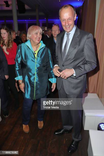 Claudia Roth Friedrich Merz during the Blankeneser new year reception on January 9 2020 in Hamburg Germany