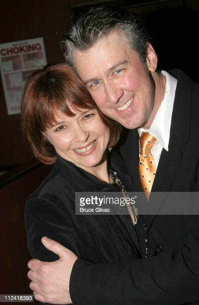 Claudia Ruck and Alan Ruck during The Cast of 'The Producers' Welcome Richard Kind and Alan Ruck of 'Spin City' to Broadway at The St James Theater...