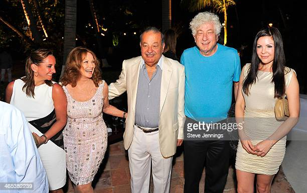 Claudia Ruiz Massieu Christiane Aleman Carlos Slim Avi Lerner and Christa Campbell attend the private dinner to celebrate the 9th Annual Acapulco...