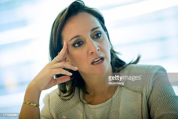 Claudia Ruiz Massieu Salinas Mexico's Secretary of Tourism speaks during an interview in New York US on Friday June 21 2013 Mexico's tourism activity...