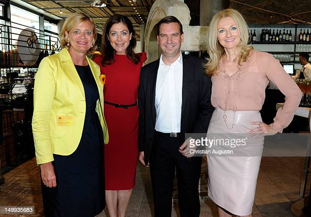 Claudia Rutt Alexandra von Rehlingen Jens Pischke and Frauke Ludowig attend DKMS Life Charity Ladies Lunch at Restaurant La Baracca on August 7 2012...