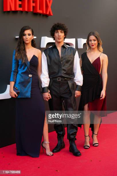 Claudia Salas and Georgina Amoros during the premiere of the second season of Elite in Madrid on 29 August 2019 Spain