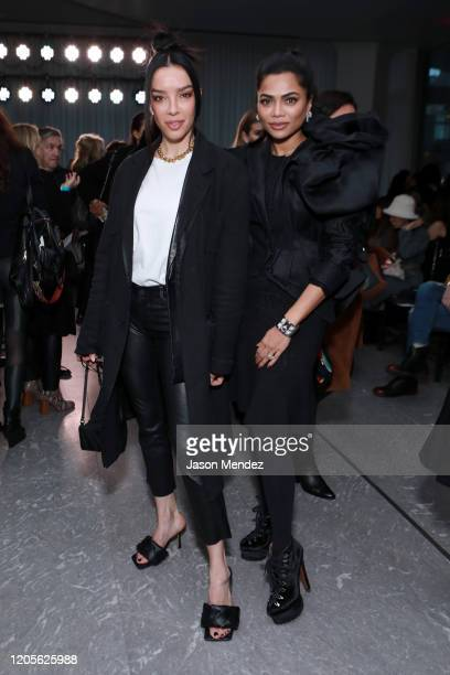 Claudia Salinas and Mona Patel attend the Naeem Khan fashion show during February 2020 New York Fashion Week The Shows on February 11 2020 in New...