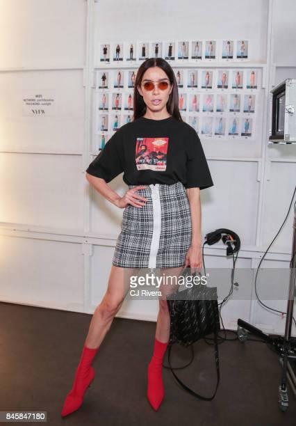 Claudia Salinas at Katty Xiomara Backstage September 2017 during New York Fashion Week at Pier 59 on September 11 2017 in New York City