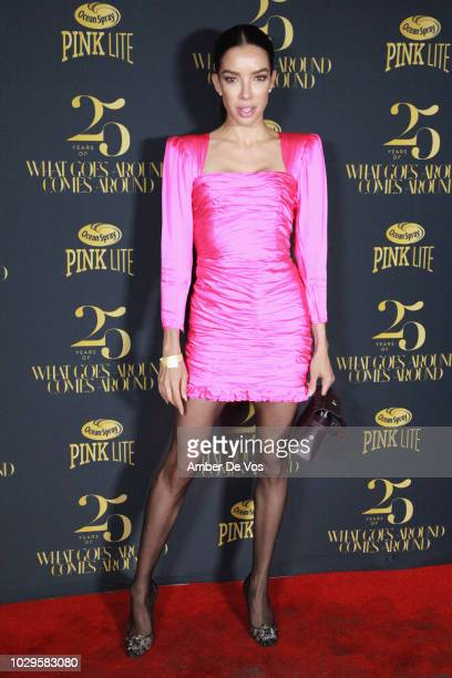Claudia Salinas attends the What Goes Around Comes Around 25th Anniversary Party at Gitano on September 8 2018 in New York City