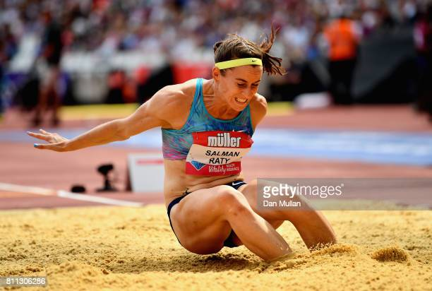 Claudia SalmanRath of Germany competes in the Women's Long Jump during the Muller Anniversary Games at London Stadium on July 9 2017 in London England