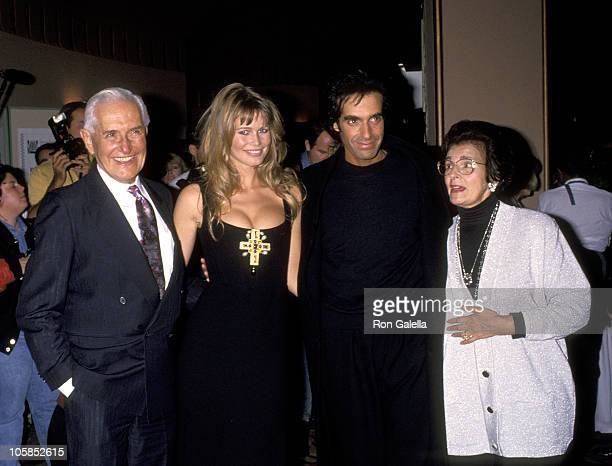 Claudia Schiffer and David Copperfield and David Copperfield's Parents Hyman Kotkin and Rebecca Kotkin