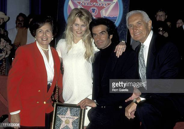 Claudia Schiffer and David Copperfield and David Copperfield's Parents Rebecca Kotkin and Hyman Kotkin