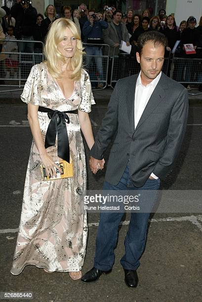 Claudia Schiffer and husband Matthew Vaughn arrive at the world premiere of Vaughn's movie 'Layer Cake' at the Electric Cinema in Notting Hill