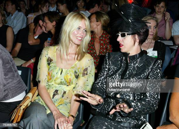 Claudia Schiffer and Isabella Blow