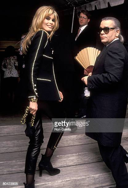 Claudia Schiffer and Karl Lagerfeld