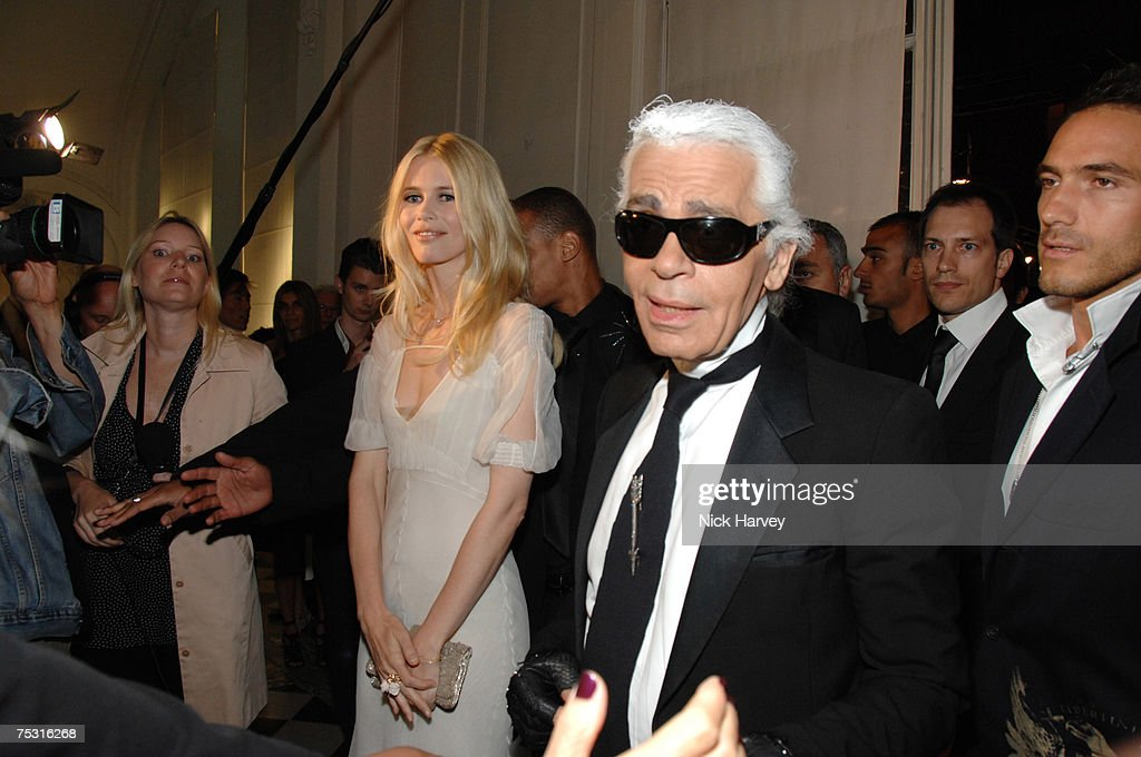 Karl Lagerfeld Party in Paris - July 4, 2007 : News Photo