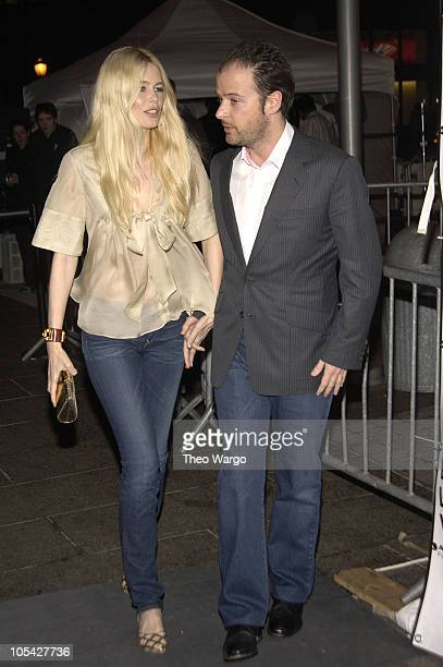 Claudia Schiffer and Matthew Vahn during 4th Annual Tribeca Film Festival Layer Cake Premiere in New York City New York United States