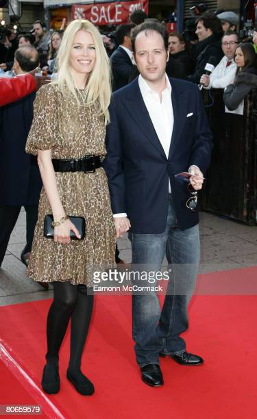 Claudia Schiffer and Matthew Vaughan attend the 'Flashbacks of a Fool' - UK Premiere at the Empire Leicester Square on April 13, 2008 in London,...