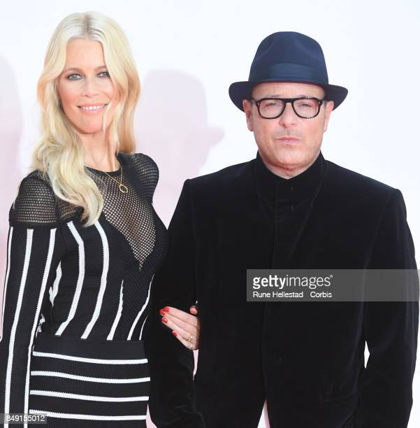 Claudia Schiffer and Matthew Vaughn attend the UK premiere of 'Kingsman: The Golden Circle' at Odeon Leicester Square on September 18, 2017 in...