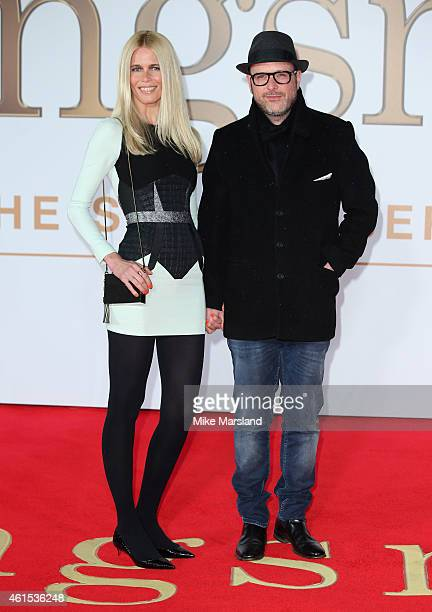 Claudia Schiffer and Matthew Vaughn attend the World Premiere of 'Kingsman The Secret Service' at Odeon Leicester Square on January 14 2015 in London...