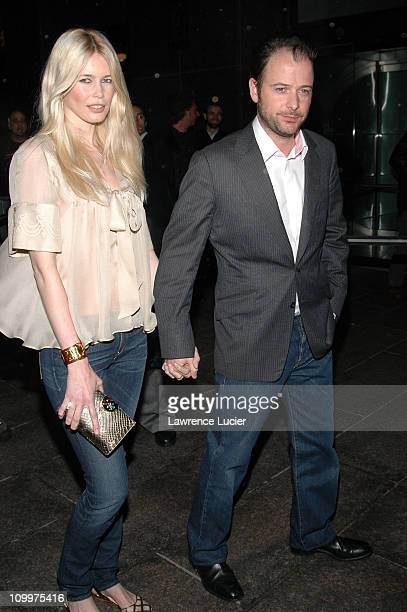 Claudia Schiffer and Matthew Vaughn during 4th Annual Tribeca Film Festival Layer Cake Premiere at Regal Cinemas in New York NY United States