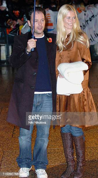 Claudia Schiffer and Matthew Vaughn during 'Harry Potter and the Goblet of Fire' World Premiere Arrivals at Odeon Leicester Square in London United...