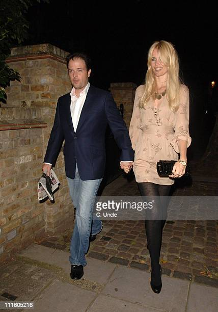 Claudia Schiffer and Matthew Vaughn during Project Red Aid for Africa Party September 20 2006 at Private Residence in London Great Britain