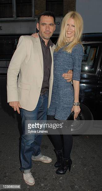 Claudia Schiffer and Roland Mouret attends Fashion Fringe 2011 Finalists Announcement held at The Sanderson Hotel on May 24, 2011 in London, England.