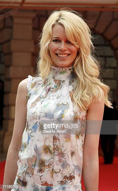 Claudia Schiffer arrives for the champagne reception launching the world's oldest and largest open art competition and exhibition at the Royal...