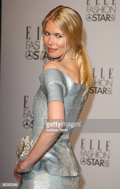 Claudia Schiffer arrives for the ELLE Fashion Star award ceremony during Mercedes Benz Fashion week Spring/Summer 2009 at the Tempodrom on July 19...