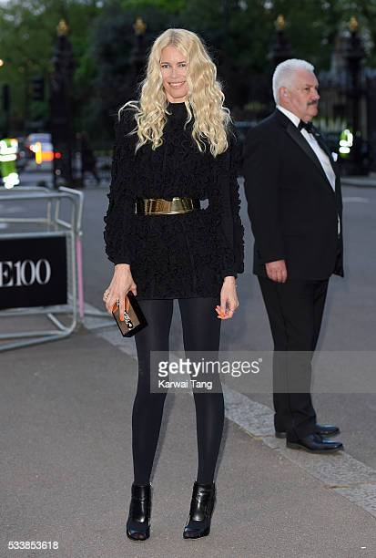 Claudia Schiffer arrives for the Gala to celebrate the Vogue 100 Festival at Kensington Gardens on May 23 2016 in London England