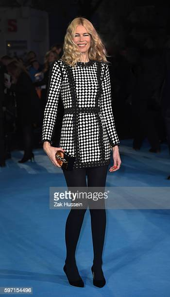 Claudia Schiffer arriving at the European premiere of Eddie the Eagle at the Odeon Leicester Square in London