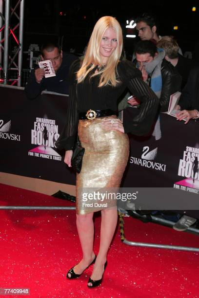 Claudia Schiffer arriving at the Swarovski Fashion Rocks on October 18, 2007 in London, England.