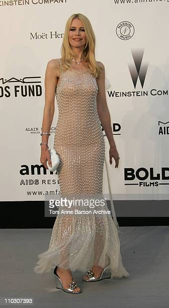 Claudia Schiffer at amfAR's Cinema Against AIDS event presented by Bold Films the M*A*C AIDS Fund and The Weinstein Company to benefit amfAR