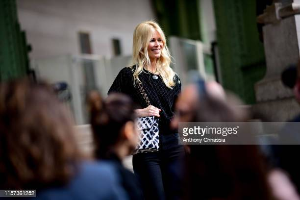 Claudia Schiffer at Karl for Ever Tribute to Karl Lagerfeld at Grand Palais on June 20 2019 in Paris France